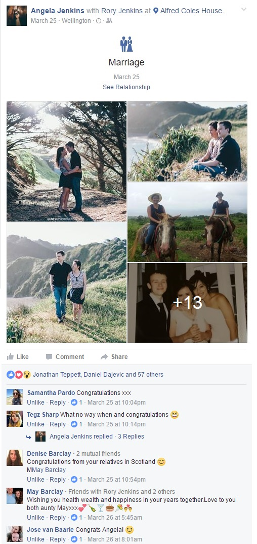 Facebook Marriage