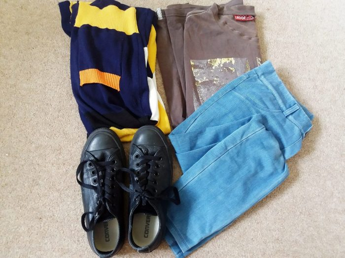 abed outfit flatlay