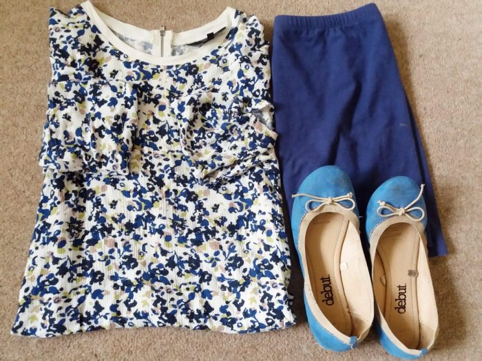 annie outfit flatlay