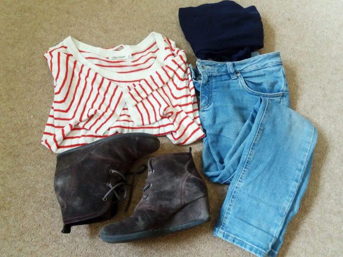 britta outfit flatlay