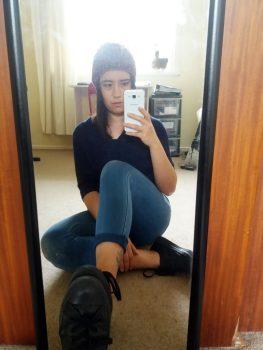 mirror selfie office