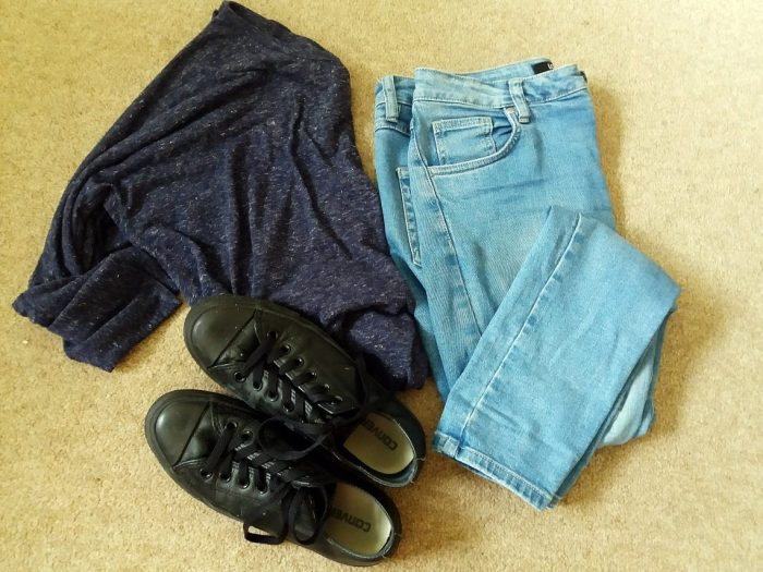 troy outfit flatlay