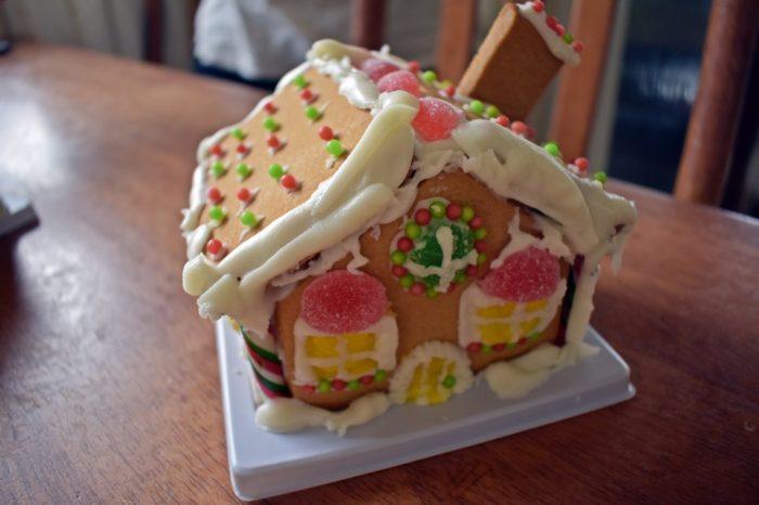 angela's gingerbread house