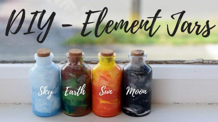 diy - element jars
